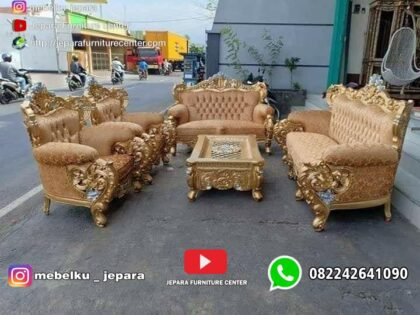 Sofa Tamu Mewah Bellagio Emas