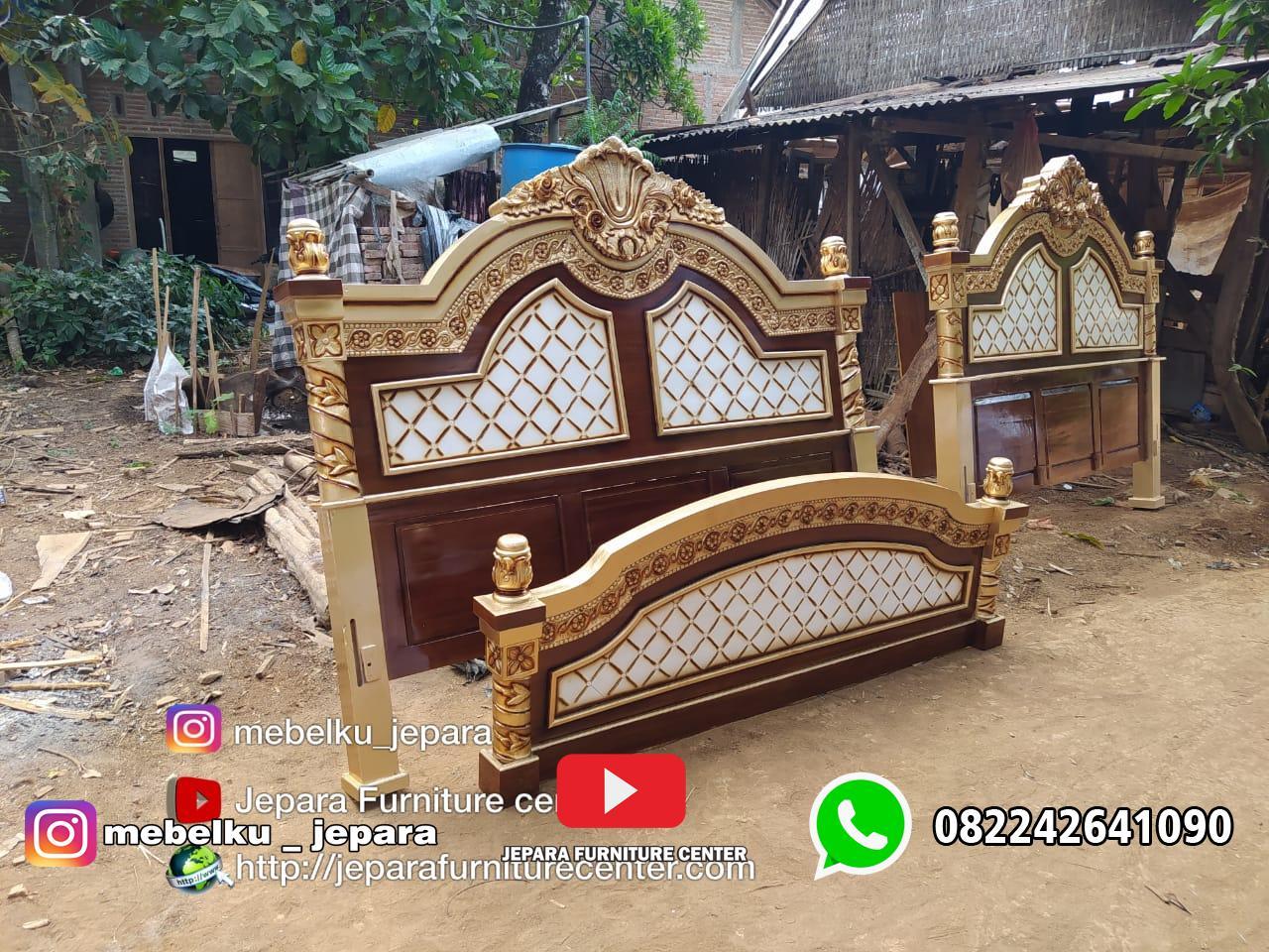 Tempat Tidur Jati Jemani Ukir Jepara