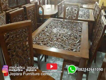 Kursi makan ukir jati krawang