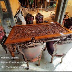Kursi makan jati ganesa meja altar ukir