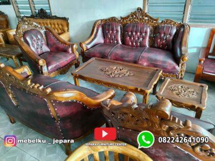 Sofa Tamu Mewah Jati Ganesa Kerang