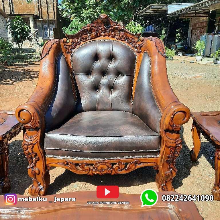 Kursi sofa tamu ganesa kerang mewah jati jepara