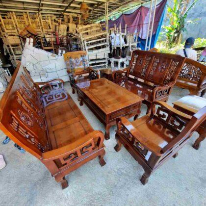 Kursi tamu hongkong kayu jati