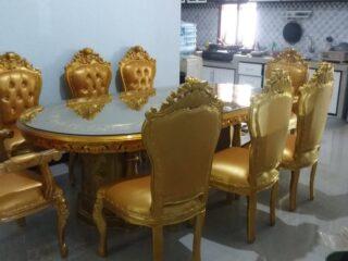 Kursi makan mewah ganesa emas